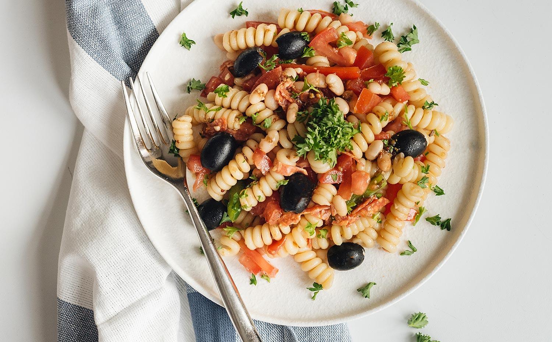 Fusilli Salad with Italian Salami