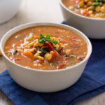 White Pea Bean & Garden Vegetable Soup