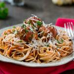 Bean Meatballs and Spaghetti