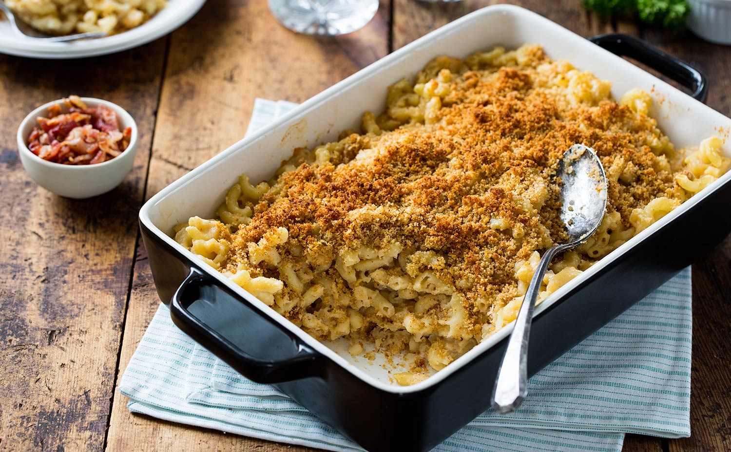 White Cheddar Bean Mac and Cheese