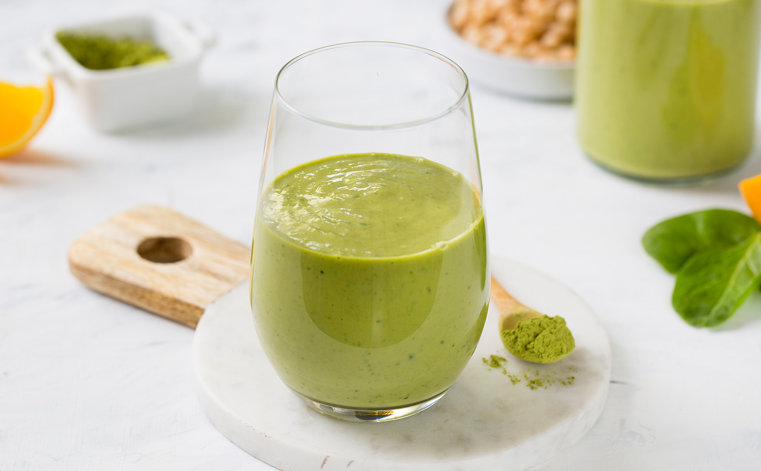 Matcha and Bean Smoothie