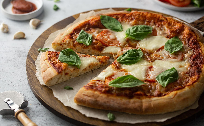 Homemade Bean Flour Pizza Crust
