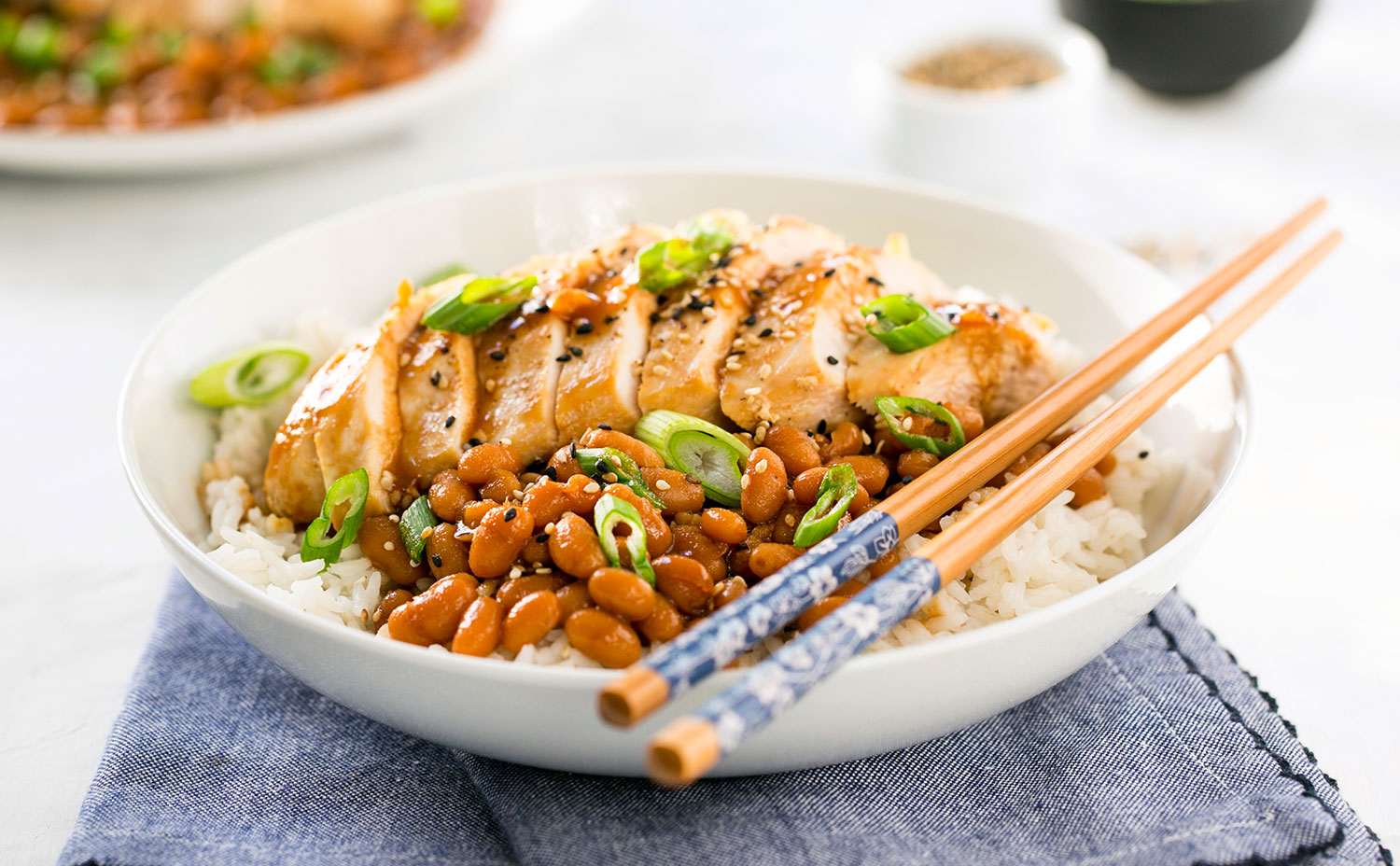 Teriyaki Chicken and Beans