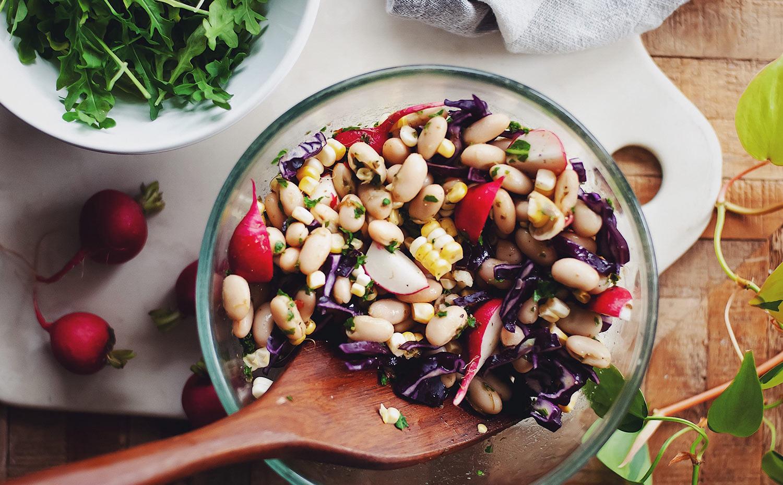 Corn, White Bean and Radish Salad with Chimichurri