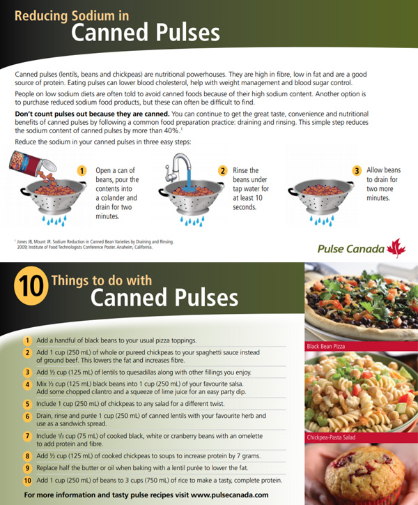 Reducing Sodium in Canned Pulses