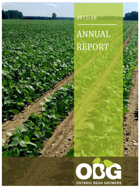 2015-16 Ontario Bean Growers Annual Report