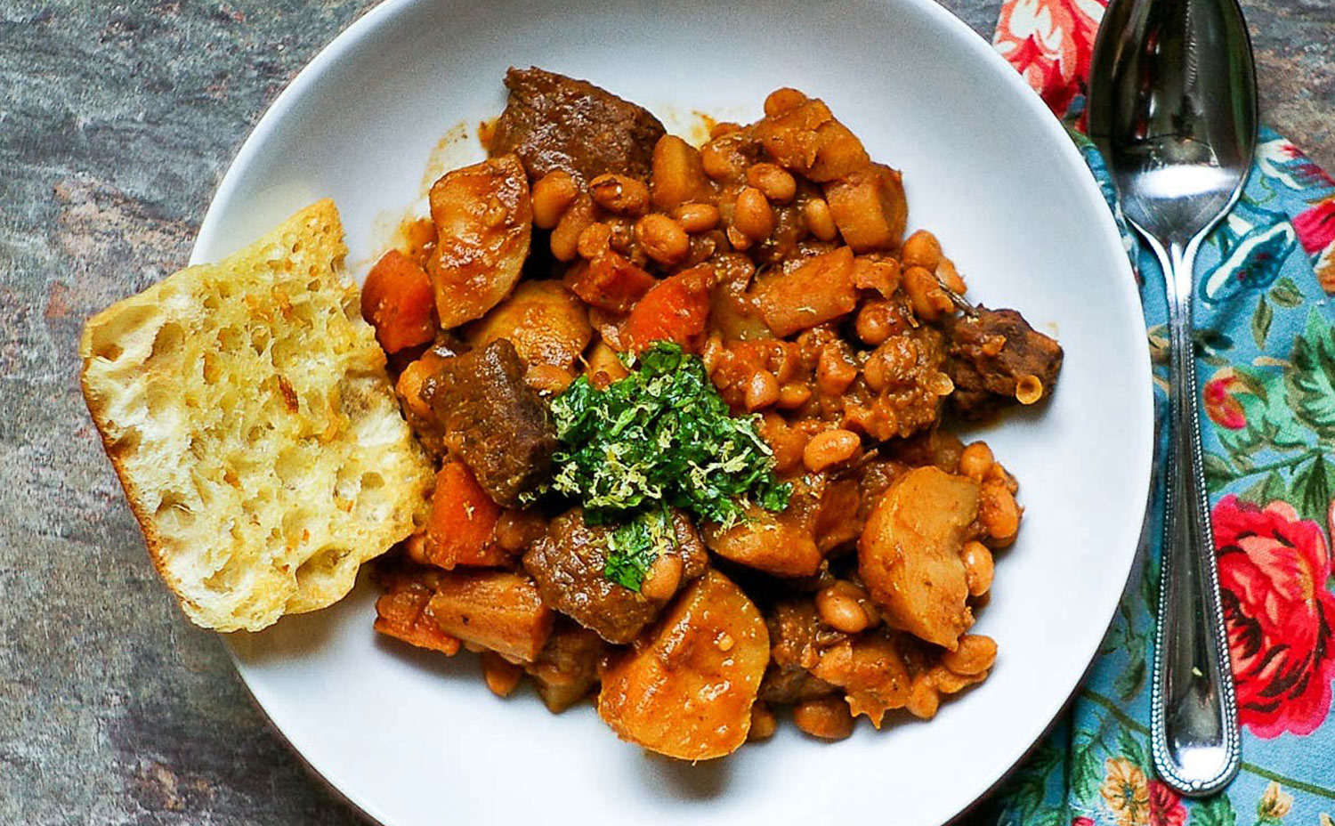 Beef White Bean Stew with Gremolata