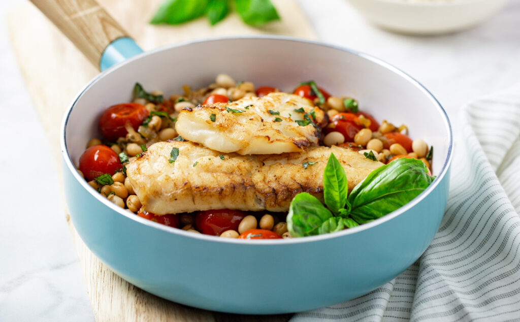 Seared Haddock with White Bean Sauce